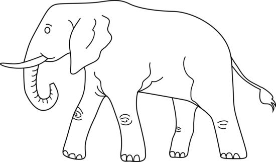 Elephant Coloring Page.