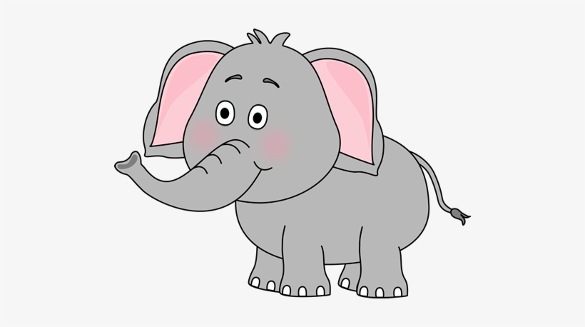Cute Elephant Clip Art.