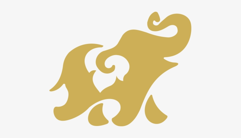 Thai Elephant Logo Transparent PNG.