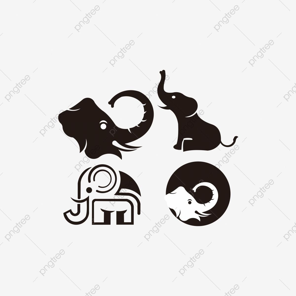 Elephant Logo Design Vector Template Inspiration Vector, Abstract.