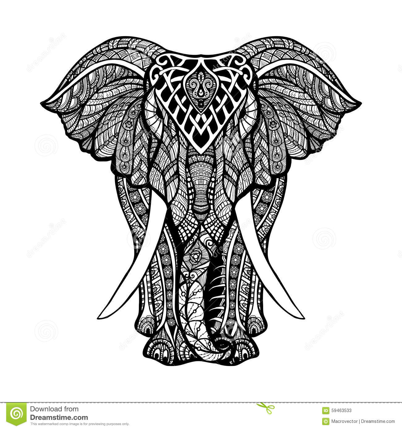 Elephant Mandala Stock Photos, Images, & Pictures.