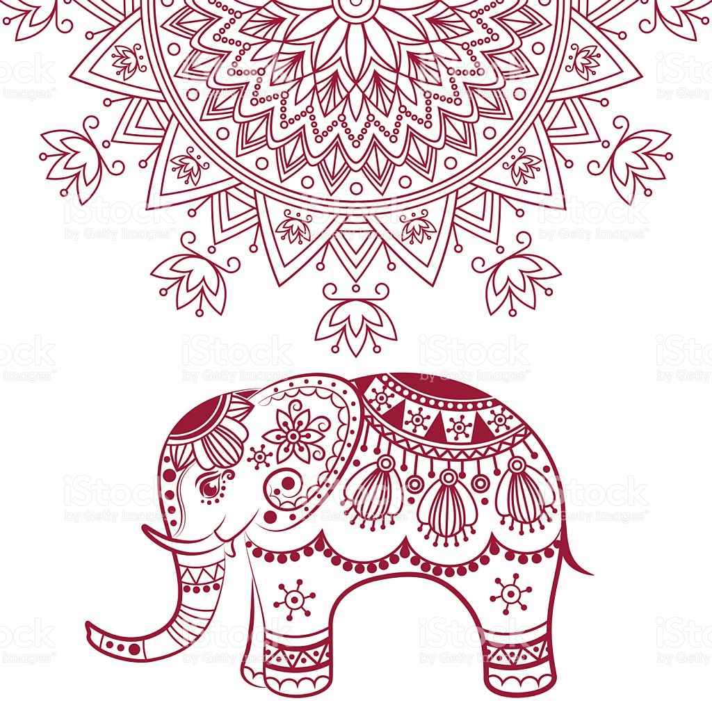 Abstract Indian Elephant With Mandala stock vector art 519864224.