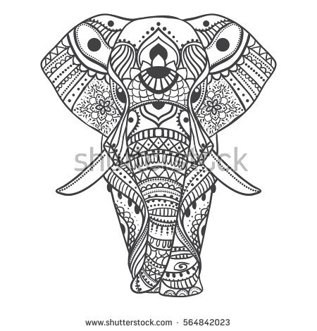 mandala elephant coloring pages easy - photo#46