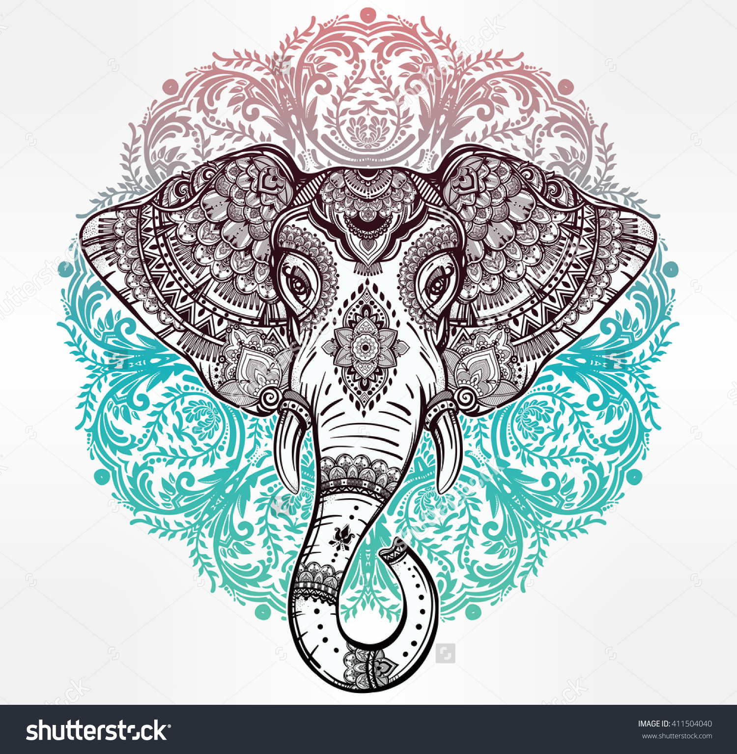 elephant mandala clipart clipground. Black Bedroom Furniture Sets. Home Design Ideas