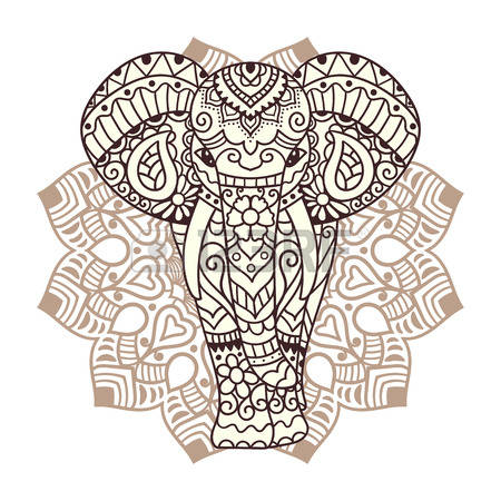 0 Elephant In Flower Stock Vector Illustration And Royalty Free.