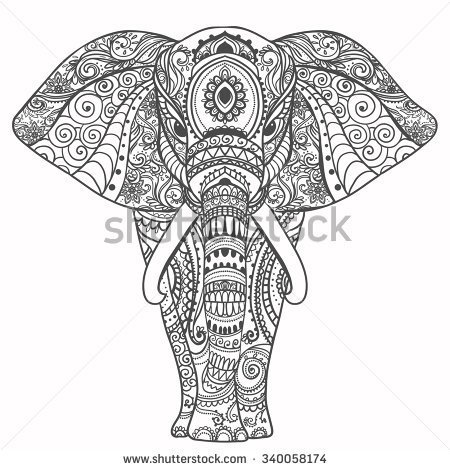 Elephant mandala clipart 20 free cliparts download images on clipground 2019 - Elephant indien dessin ...