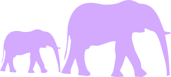 Elephant Royalty Free Stock Mom And Baby Clipart Purple Shower Clip.