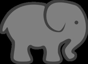 Grey Elephant Mom & Baby Clip Art at Clker.com.