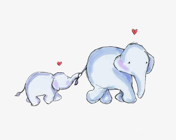 Cartoon Baby Elephant.