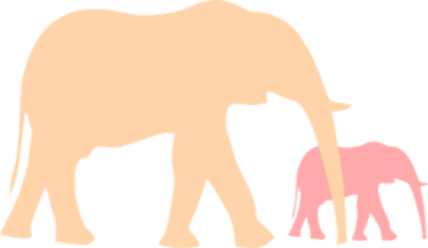 Mom And Baby Elephant PNG Transparent Mom And Baby Elephant.PNG.