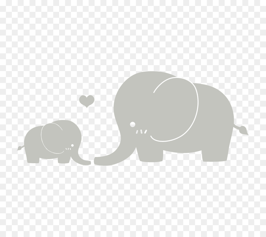 Free Elephant Mom And Baby Silhouette, Download Free Clip Art, Free.