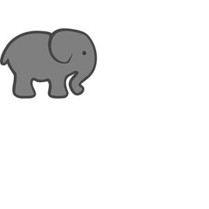 Grey Elephant Mom & Baby clipart, cliparts of Grey Elephant Mom.