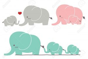Elephant mom and baby clipart 2 » Clipart Portal.