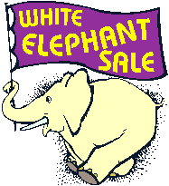White elephant sale clipart.