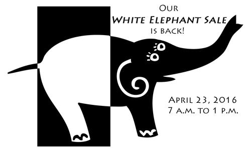 White Elephant Sale.