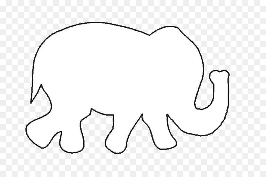 Elephant Outline.