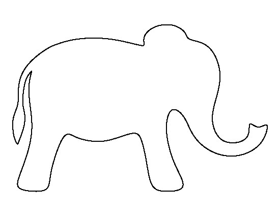 Simple Elephant Outline.