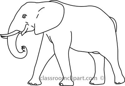 Elephant clipart elephant outline pencil and in color jpg.