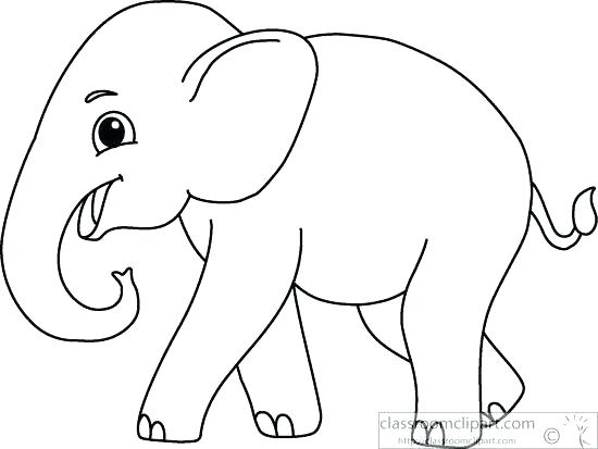 Elephant outline clipart » Clipart Station.
