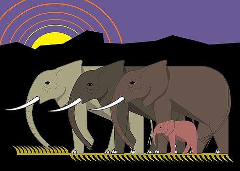 Elephant parade clipart #20