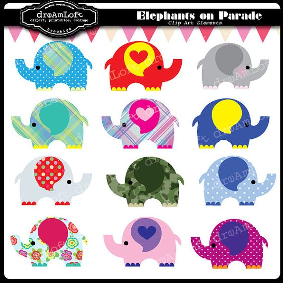 Elephant parade clipart 20 free Cliparts | Download images ...