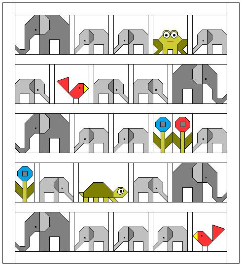 Sew Fresh Quilts: Elephant Parade.
