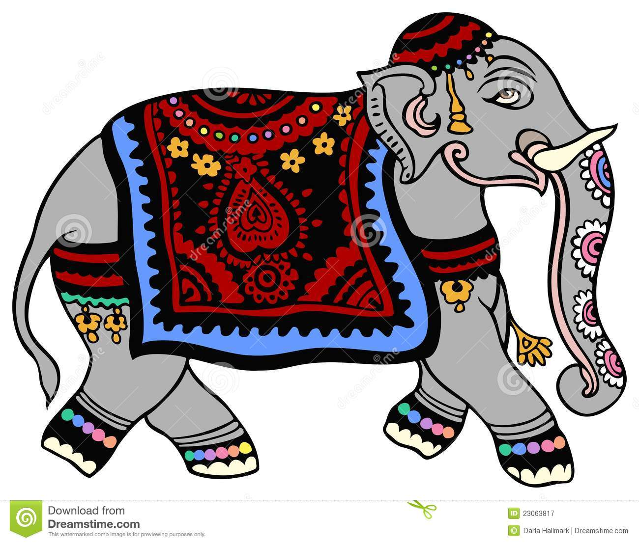 Elephant Parade Stock Illustrations.