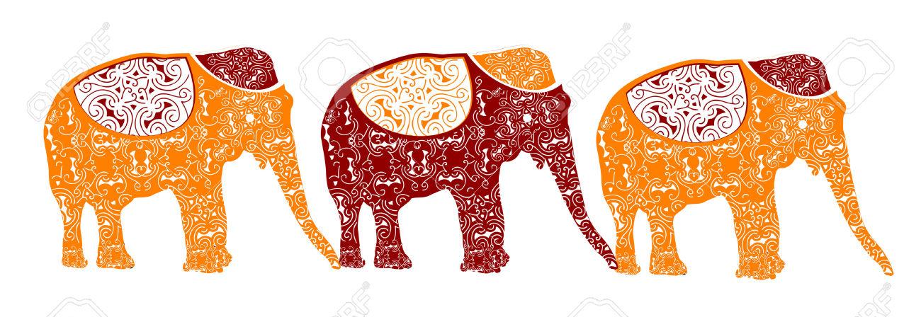 Clipart elephants on parade.