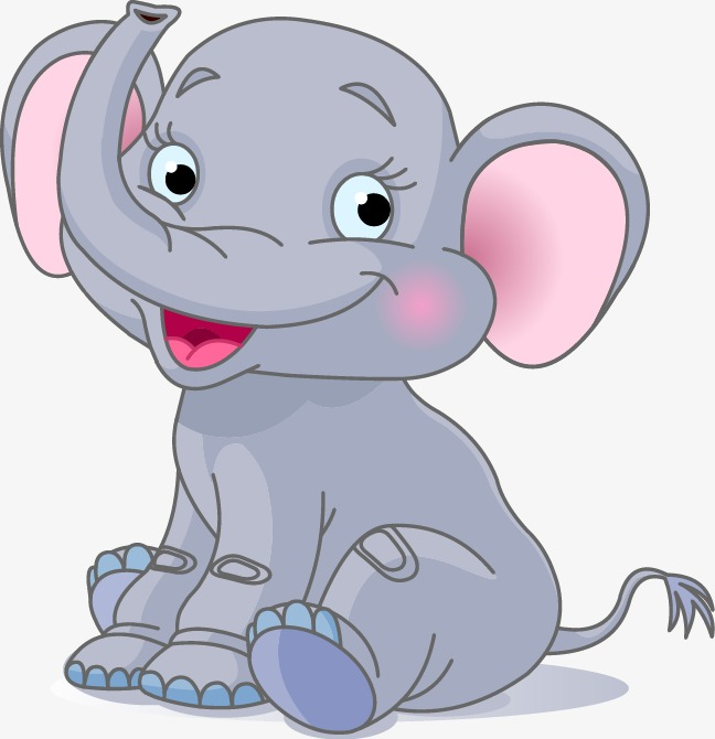 Cute Baby Elephant Clipart Png.