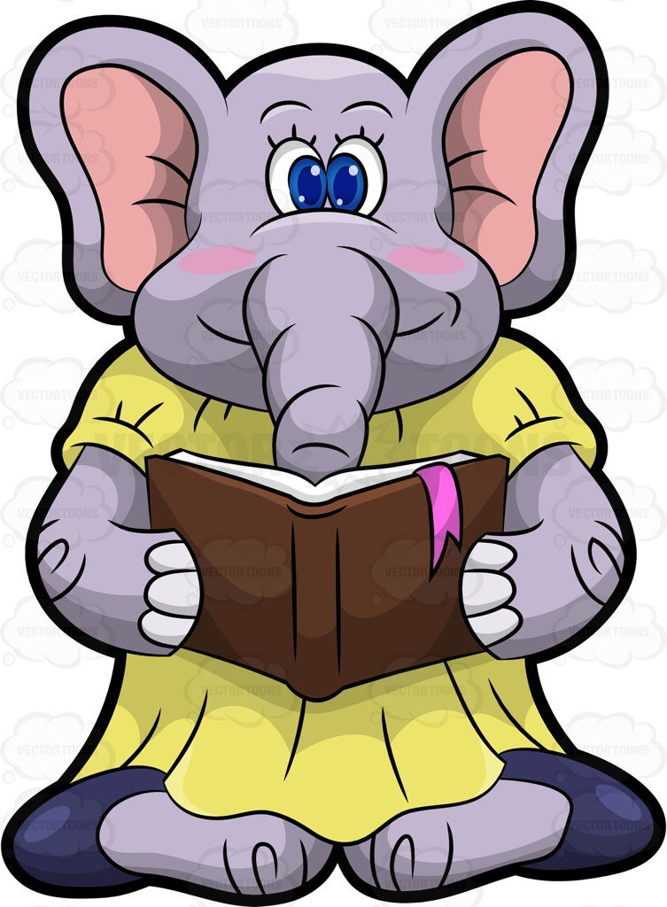 Elephant reading clipart 7 » Clipart Portal.