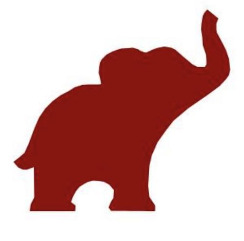 Alabama Elephant Clipart.