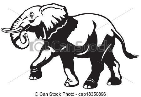Vector of african elephant.