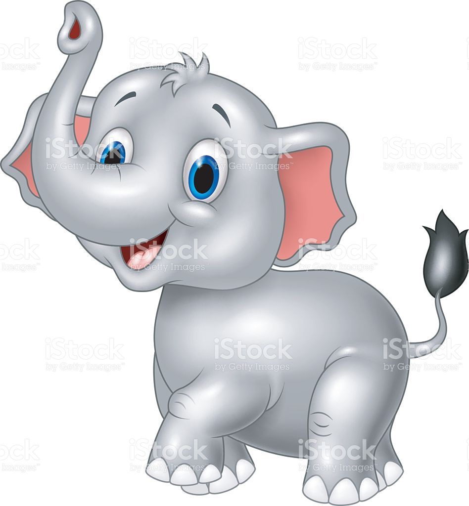 Cartoon Of Elephant Side View Clip Art, Vector Images.