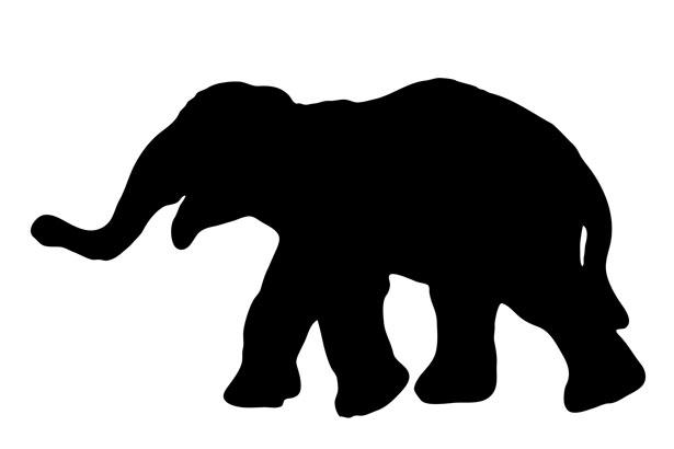 Elephant Silhouette Free Stock Photo.