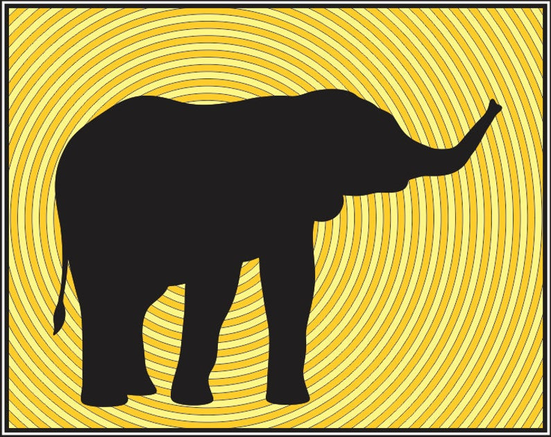 Baby Elephant Silhouette clip.