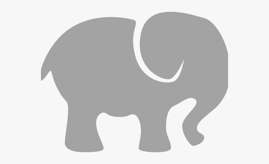 Silhouette Clipart Baby Elephant.