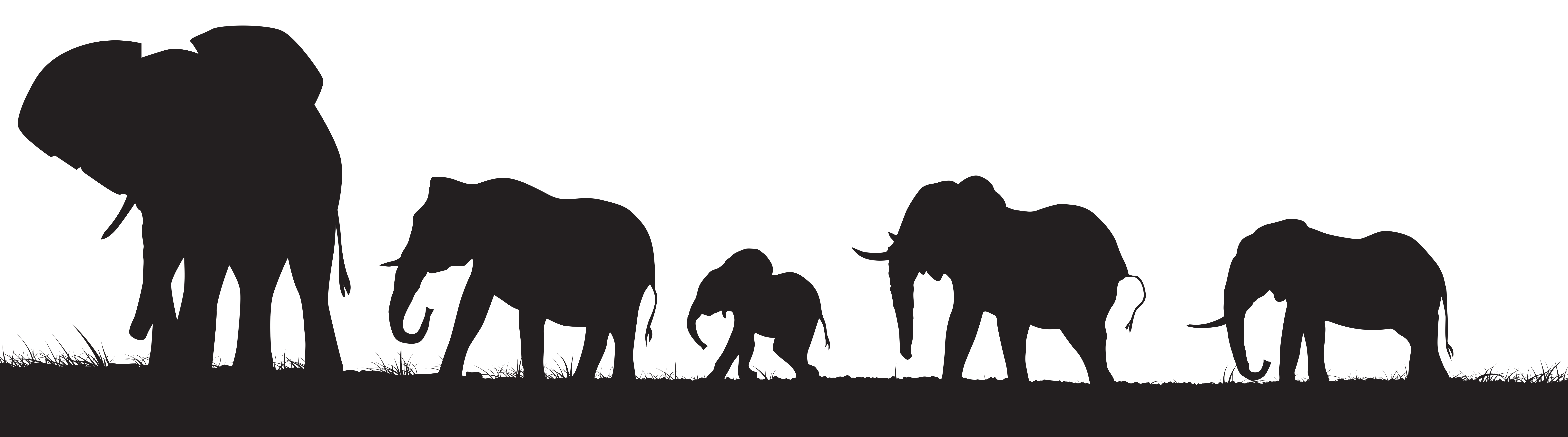 elephant silhouette clipart transparant background 20 free