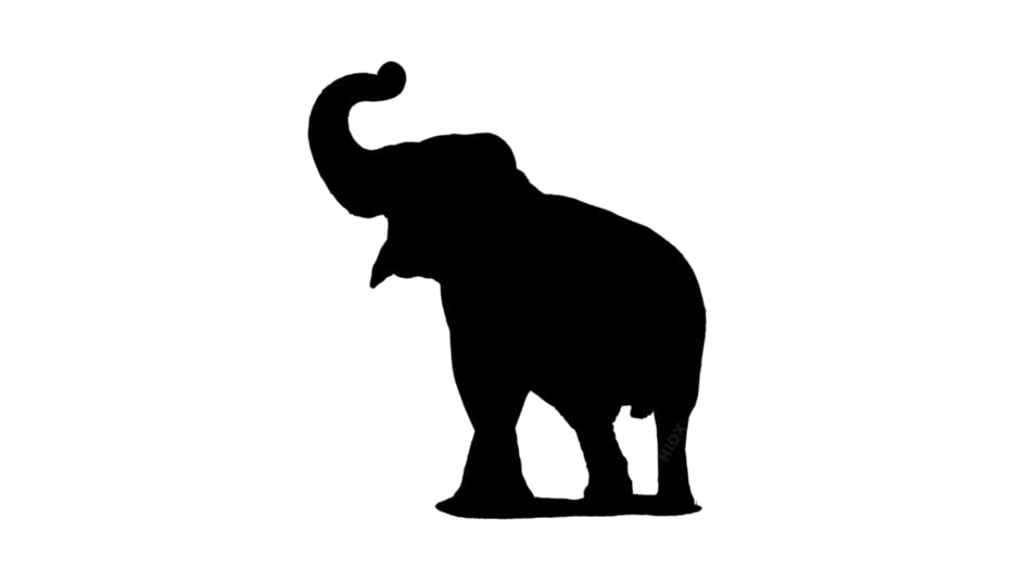 Transparent Elephant Trunk Up Silhouette PNG @ Pngimages.pics.