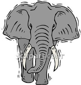 African elephant clipart.