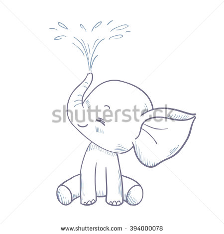 Baby Elephant Stock Images, Royalty.