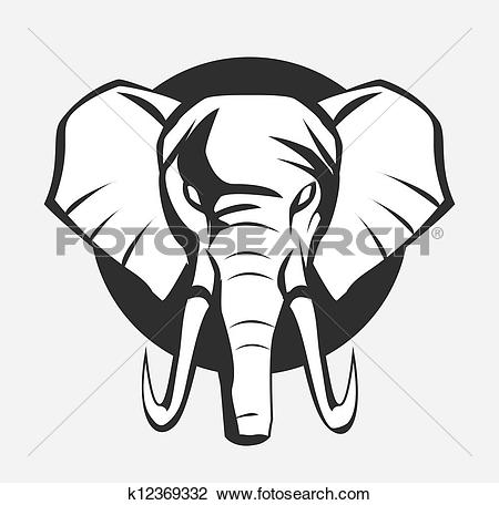 Clipart of elephant head k15351664.