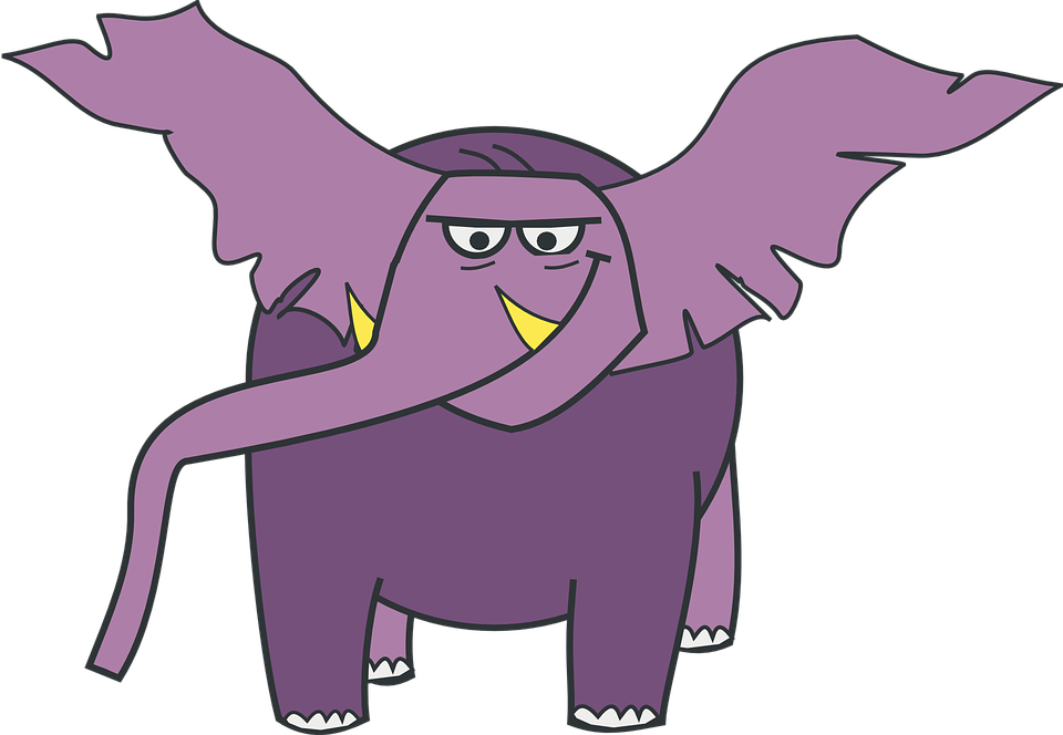 Free vector graphic: Elephant, Lilac, Violet, Trunk.