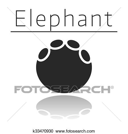 Elephant animal track Clipart.