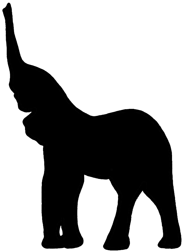 Free Elephant Silhouette Trunk Up, Download Free Clip Art, Free Clip.