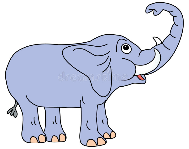 Elephant Trunk Up Stock Illustrations.