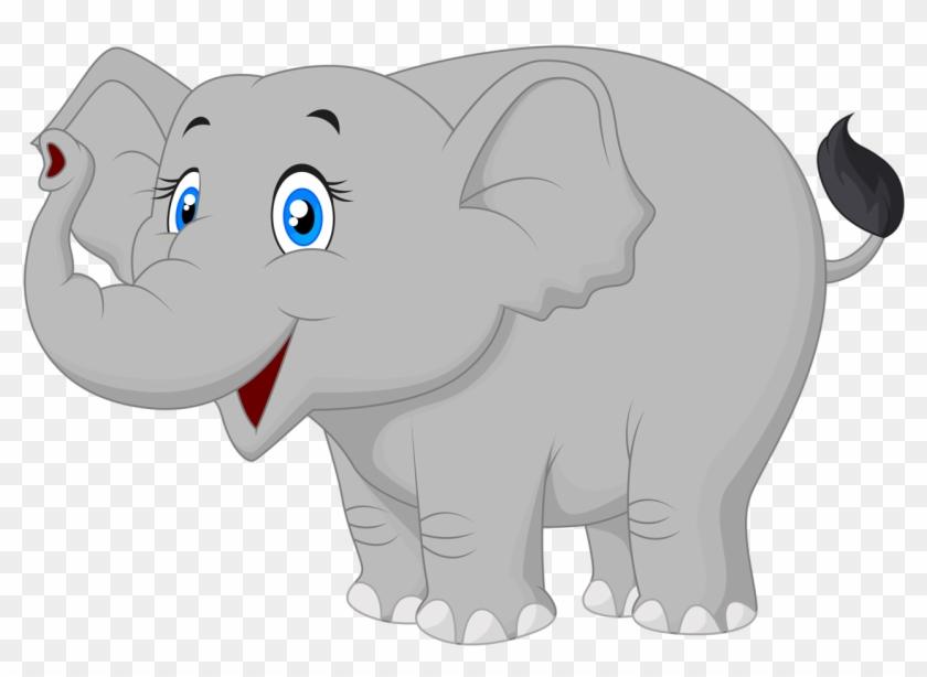 Cartoon Elephant Vector [преобразованный].