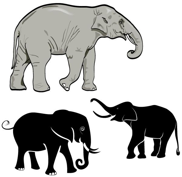 Free Elephant Vector Art.