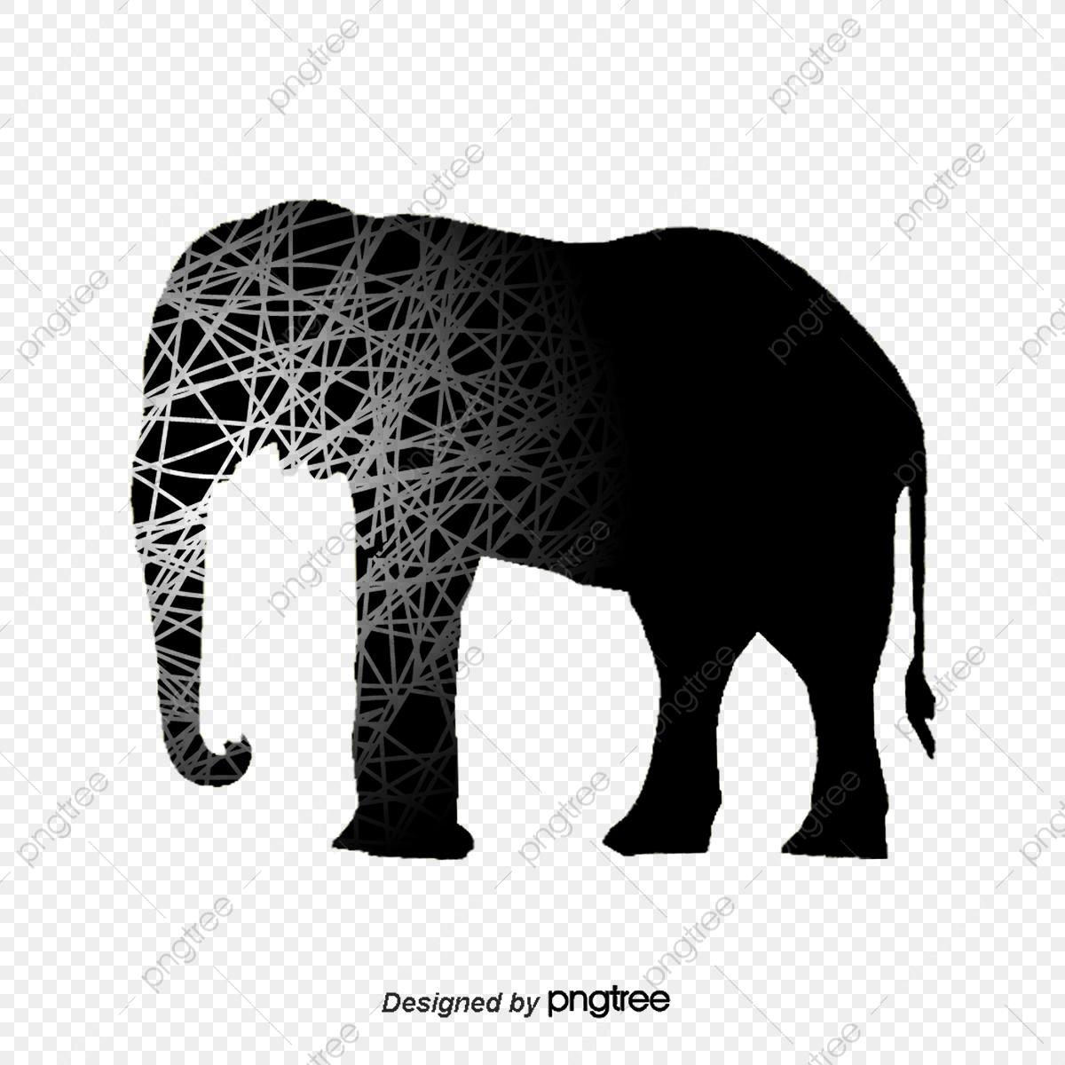 Vector Creative Elephant, Elephant Vector, Creative Elephant, Vector.