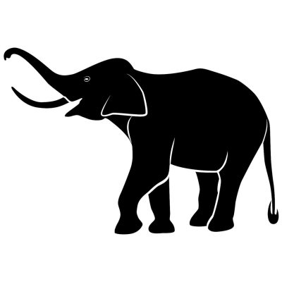 Elephant Vector Illustration PNG.
