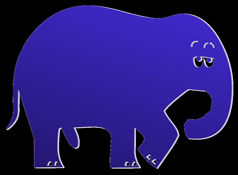 Blue, Elephant.